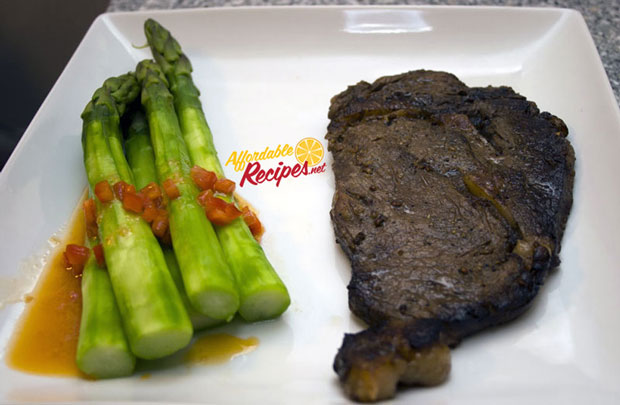 affordable recipes steak and asparugus
